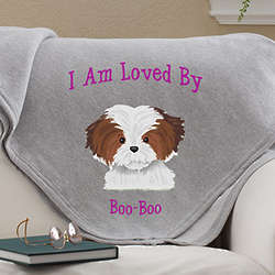 Top Dog Owners Personalized Sweatshirt Blanket