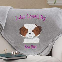 Top Dog Owners Personalized Sweatshirt Blanket