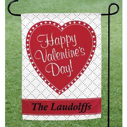 Personalized Valentine's Day Garden Flag