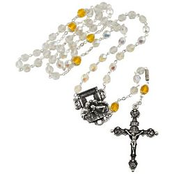 Italian Silver-Plated Year of Faith Rosary