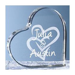 Personalized Interlocking Hearts Plaque