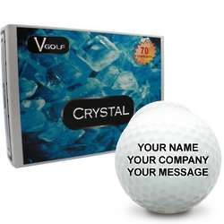 Personalized White Crystal Golf Balls