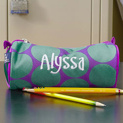 Girl's Polka Dots Personalized Pencil Case