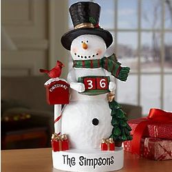Personalized Snowman Countdown Figurine