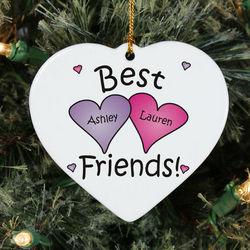 Personalized Ceramic Best Friends Ornament