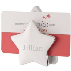 Personalized Dual-Star Business Card Holder
