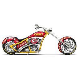 Kansas City Chiefs Motorcycle Figurine