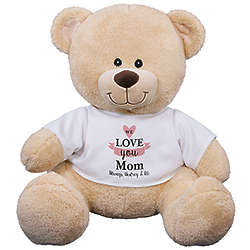"We Love You Mom 11"" Sherman Teddy Bear"
