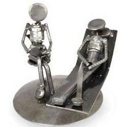 Rustic Psychotherapist Iron Statuette
