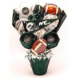 New York Jets Cookie Pot Bouquet