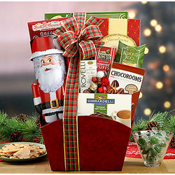 Santa Bank and Sweets Gift Basket