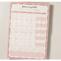 Wall Calendar with Multi-Schedule Planner