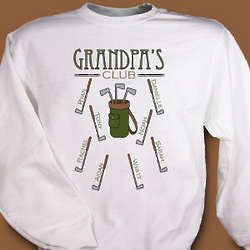Personalized Golf Club Sweatshirt