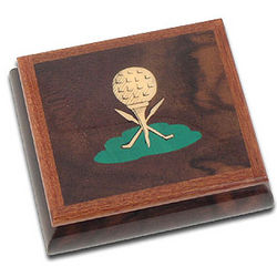 Solid Wood Golf Ball Musical Jewelry Box