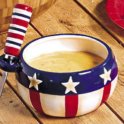Patriotic Bowl with Spreader