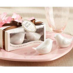 Lovebirds Ceramic Salt and Pepper Shakers Wedding Favor