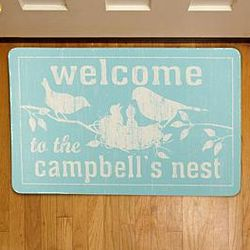 Personalized Welcome to Our Nest Doormat