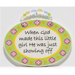 Little Girl Decorative Hanging Wall Plaque