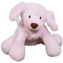 Pink Spunky Puppy Stuffed Toy
