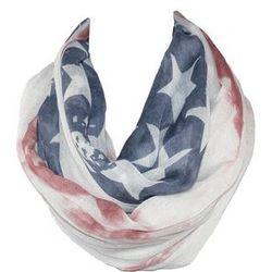 Distressed American Flag Loop Scarf