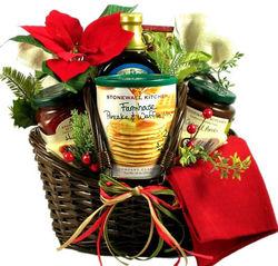 Country Christmas Holiday Gift Basket