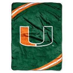 Miami Hurricanes Force Raschel Blanket