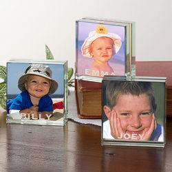 Personalized Mini Glass Photo Block
