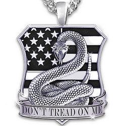 Don't Tread On Me Men's Pendant Necklace