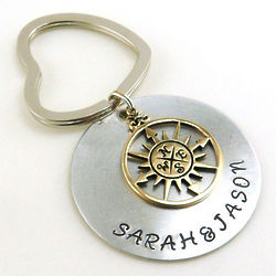 I Will Follow You Anywhere Personalized Compass Keychain