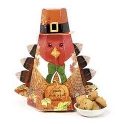 Thanksgiving Turkey Box of Shortbread Cookies