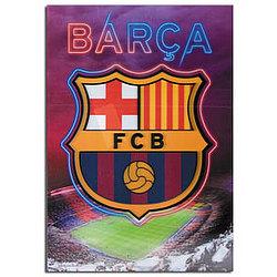Barcelona 3D Crest Poster