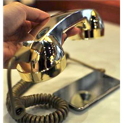 Retro Phone Handset in Gold