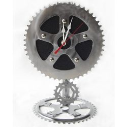 Recycled Bike Chain Gear Pendulum Desk Clock