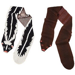 Skunk or Mink Recycled Cotton Animal Stole
