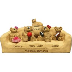 Personalized Sofa for Parents with up to 9 Family Bears