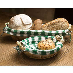Rectangular Shamrock Wicker Bread Basket