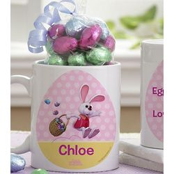 Personalized Kid's Easter Mug with Chocolate Eggs