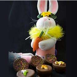 Plush Easter Bunny Brownie Tube