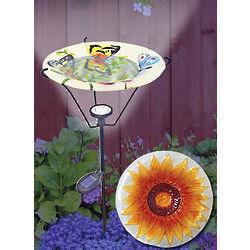 Sunflower Solar Bird Bath