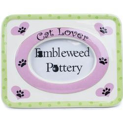 Cat Lover Ceramic 3.5x5 Picture Frame