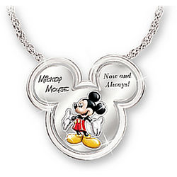 Mickey Now and Always Silver-Plated Pendant