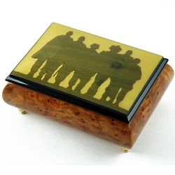 A Tribute to Our Troops Silhouette Music Box