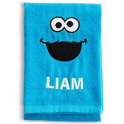 Personalized Sesame Street Cookie Monster Bath Towel