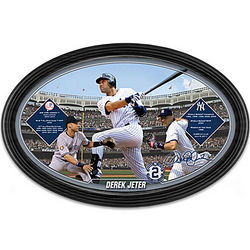 Derek Jeter A Yankees Legend Framed Collector Plate