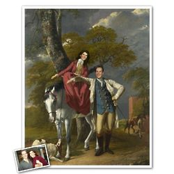 Romantic Horse Ride Masterpiece Print from Photos