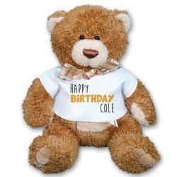 Personalized Bow Tie Birthday Teddy Bear