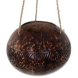 Earthen Shrine Coconut Shell Hanging Basket