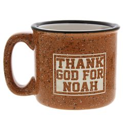 Personalized Thank God for You Campfire Mug in Terra Cotta