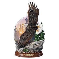 Majestic Flight Illuminated Eagle Sculpture