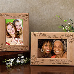 Personalized My Mother, My Friend Wooden Picture Frame